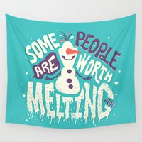 risa rodil Wall Tapestries featuring Worth melting for by Risa Rodil