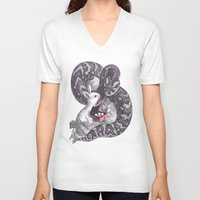 cupcake V-neck T-shirts featuring Cupcake? by Jacques Maes