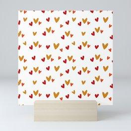 Hearts Pattern Mini Art Print