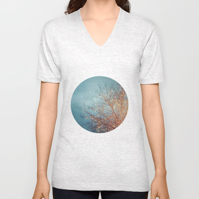 December Lights Unisex V-Neck