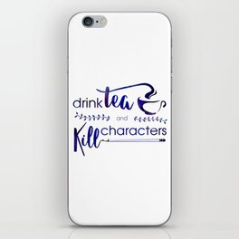 Drink Tea and Kill Characters iPhone Skin