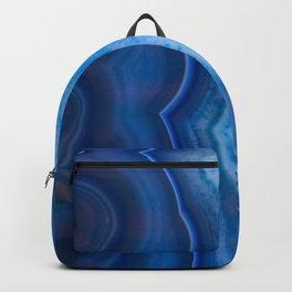 Deep Blue Lagoon Agate Backpack