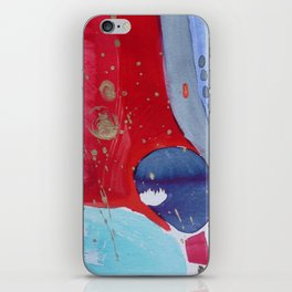 Pierre rouge, red stone iPhone Skin