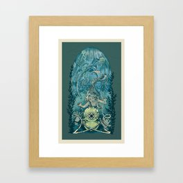 s'accrocher à l'amour Framed Art Print
