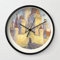 castle Wall Clocks featuring Castle by Kasheva