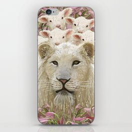 Lambs led by a lion iPhone Skin