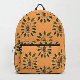 papaya leafs mandala Backpack