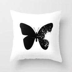 Butterfly Splatter 2 Throw Pillow