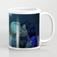 swan queen Mugs featuring Swan Queen - Night Kiss by Two Swen Idiots
