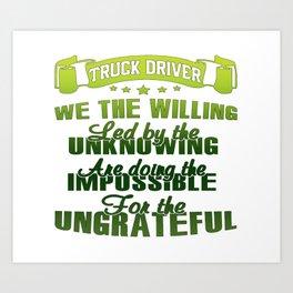 Truck Driver Art Print