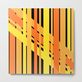 ORANGE AND YELLOW BEING FRIENDS Metal Print