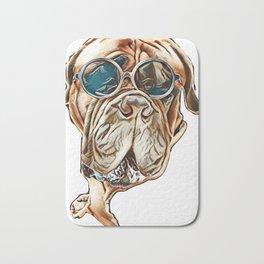 cute dog alertness animal Bath Mat