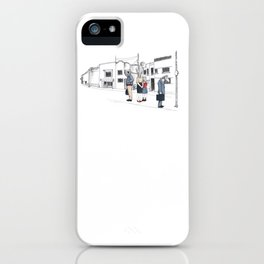 """Brix and Bailey """"Waiting In Line"""" iPhone Case"""