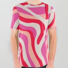 pink zebra stripes All Over Graphic Tee
