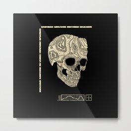 Skullography  Metal Print