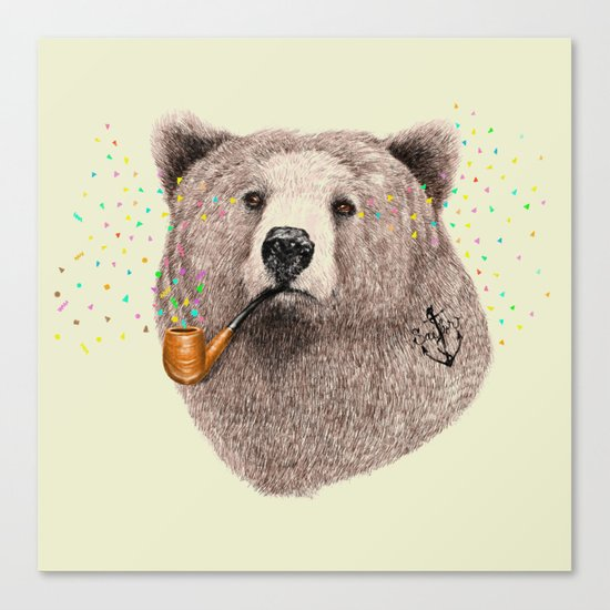 Sailor Bear Canvas Print