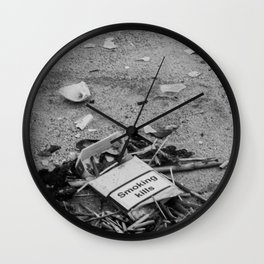 Empty Cigarette Box on the Street, B Wall Clock