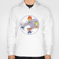 thundercats Hoodies featuring A Boy - A Girl - Thundercats by Christophe Chiozzi