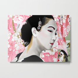 Geisha (芸者) by A.Harrison Metal Print