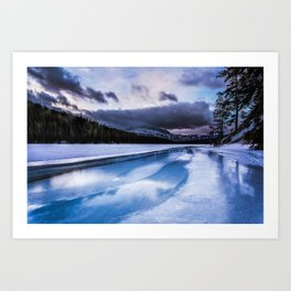 Icy Morning Art Print