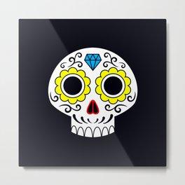 Sugar skull for a cake Metal Print