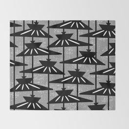 Mid Century Modern Pendant Lamp Composition Grey Throw Blanket
