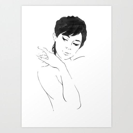 Amy. Art Print
