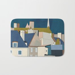 france houses abstract art Bath Mat