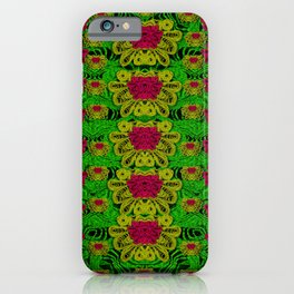 rainbow forest the home of the metal peacocks iPhone Case