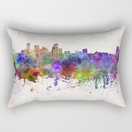 Baltimore skyline in watercolor background Rectangular Pillow