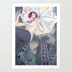 The sunny side of the street Art Print