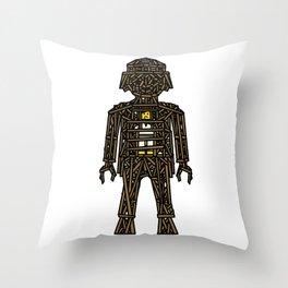 The Playmobil Wicker Man Throw Pillow
