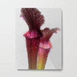 Sarracenia artistic paint - Original from Steno Photography Metal Print