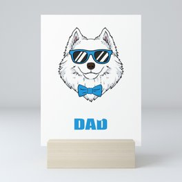 Cool Samoyed Dad Dog Gift Mini Art Print