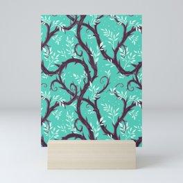 Entangled - Turquoise Mini Art Print