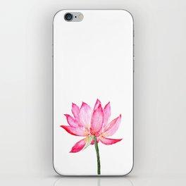 pink lotus flower iPhone Skin