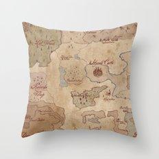 Map of Hyrule- Legend of Zelda Throw Pillow