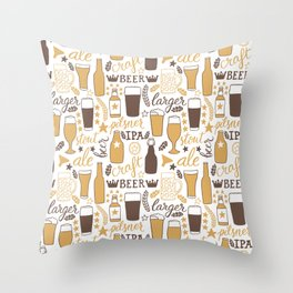 For beer lovers Throw Pillow