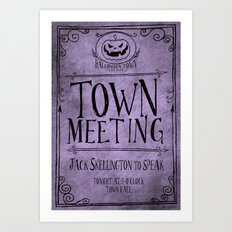 Town Hall Meeting Flyer Art Print