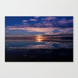 Crescent Beach Sunset Canvas Print