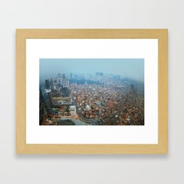 Istanbul at night .View from Sapphire skyscraper. Framed Art Print