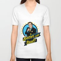 better call saul V-neck T-shirts featuring Better Call Saul by Akyanyme
