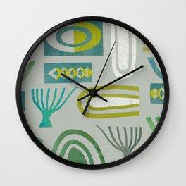 Green bits Wall Clock