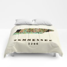 Tennessee state map modern Comforters