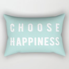 Choose Happiness - Mint Rectangular Pillow