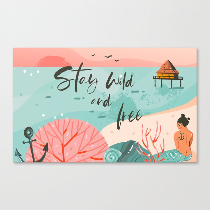 Stay Wild & Free Canvas Print