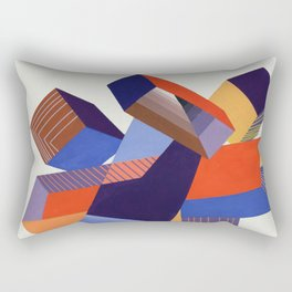 Geometric Painting by A. Mack Rectangular Pillow