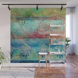 Pastel Seashell Mosaic Wall Mural