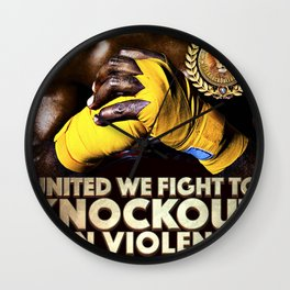 United We Fight to Knockout Gun Violence Wall Clock