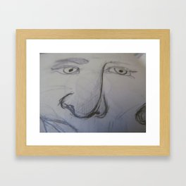 sketchbook doodles: noses Framed Art Print
